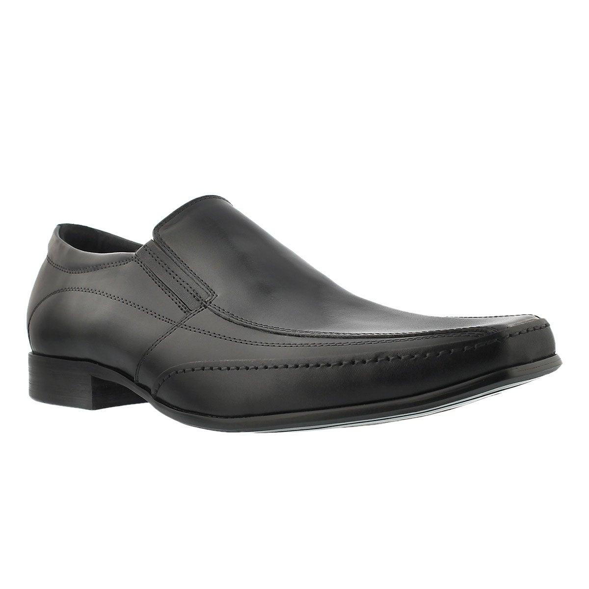 softmoc s justin 2 black slip on dress shoes