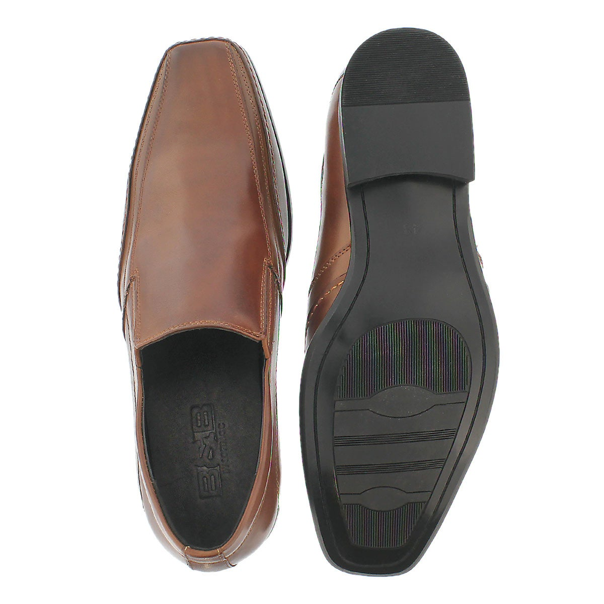 softmoc s justin 2 cognac slip on dress shoes