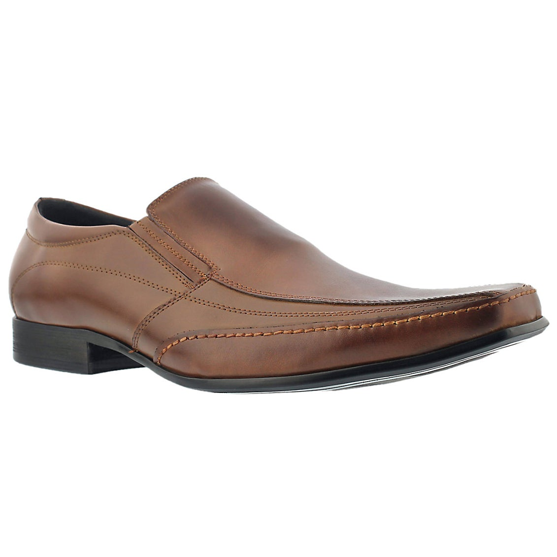 Mns Justin 2 cognac slip on dress shoe