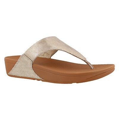 Lds Lulu Shimmer Print gld thong sandal
