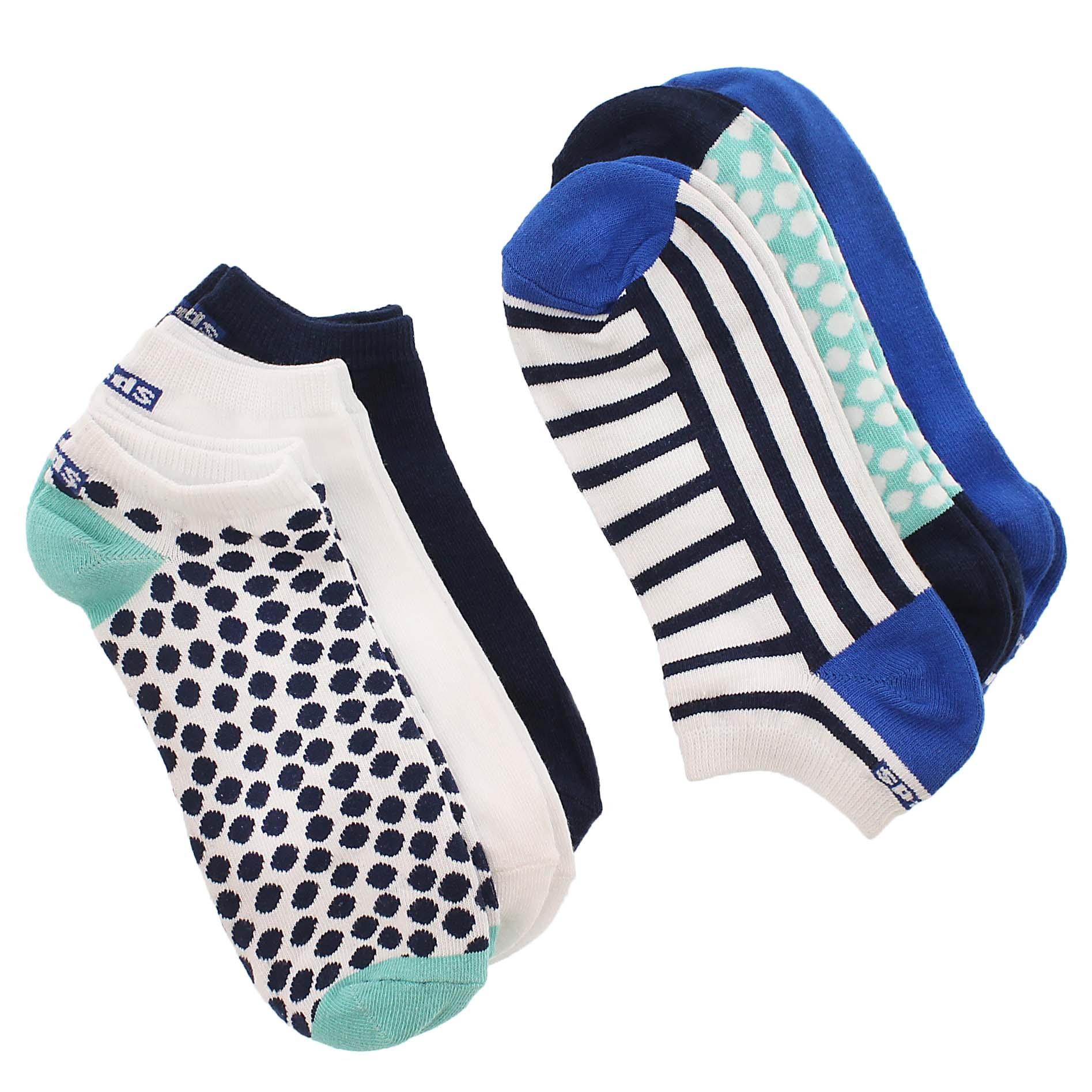 Lds turquoise no show cotton socks - 6pk