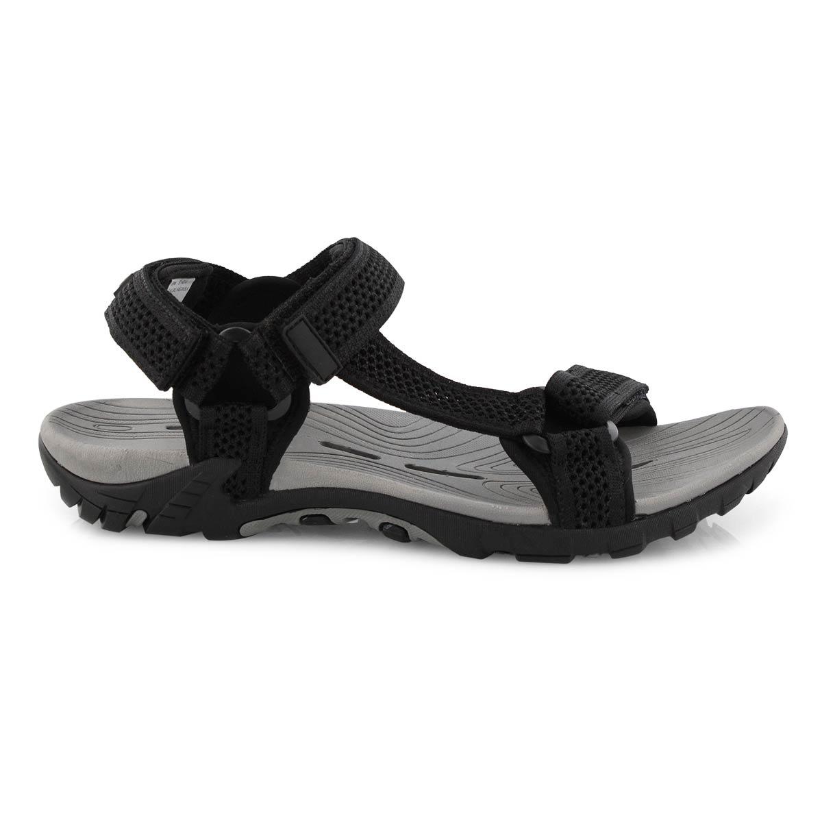 Mns Kaelan black 3 strap sport sandal