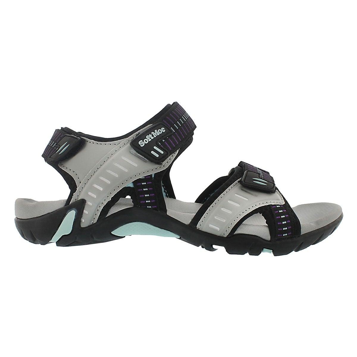 Sandale sport Kara, gris, femmes