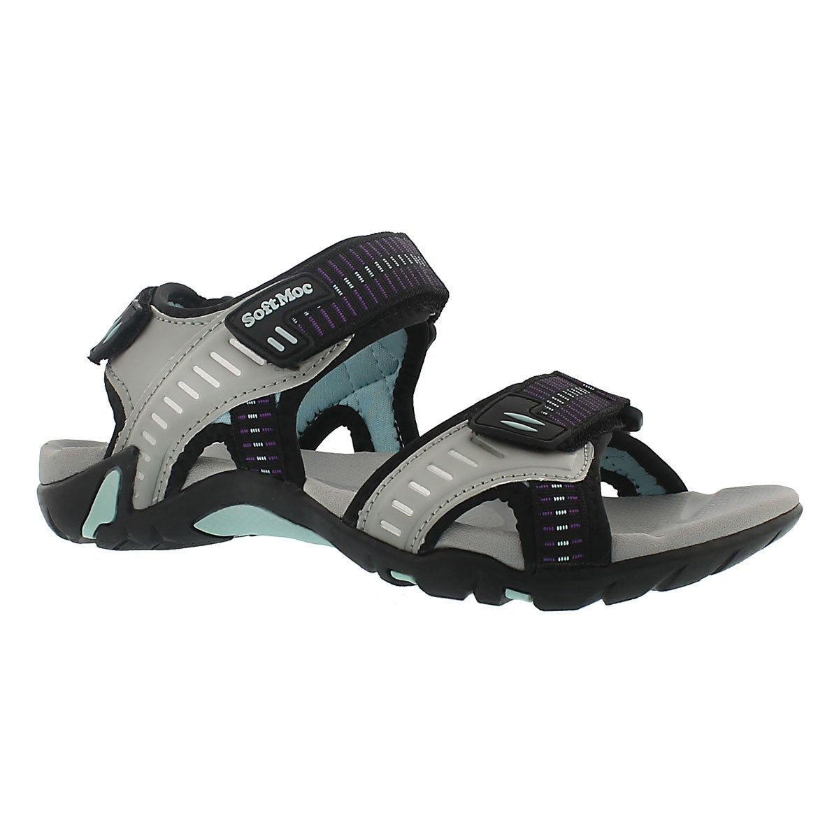 Women's KARA grey 3 strap sport sandals