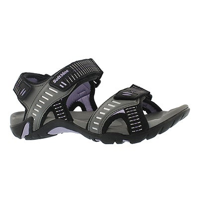 SoftMoc Women's KARA slate 3 strap sport sandals
