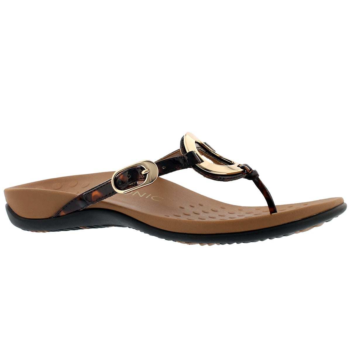 Women's KARINA tortoise arch support thong sandals