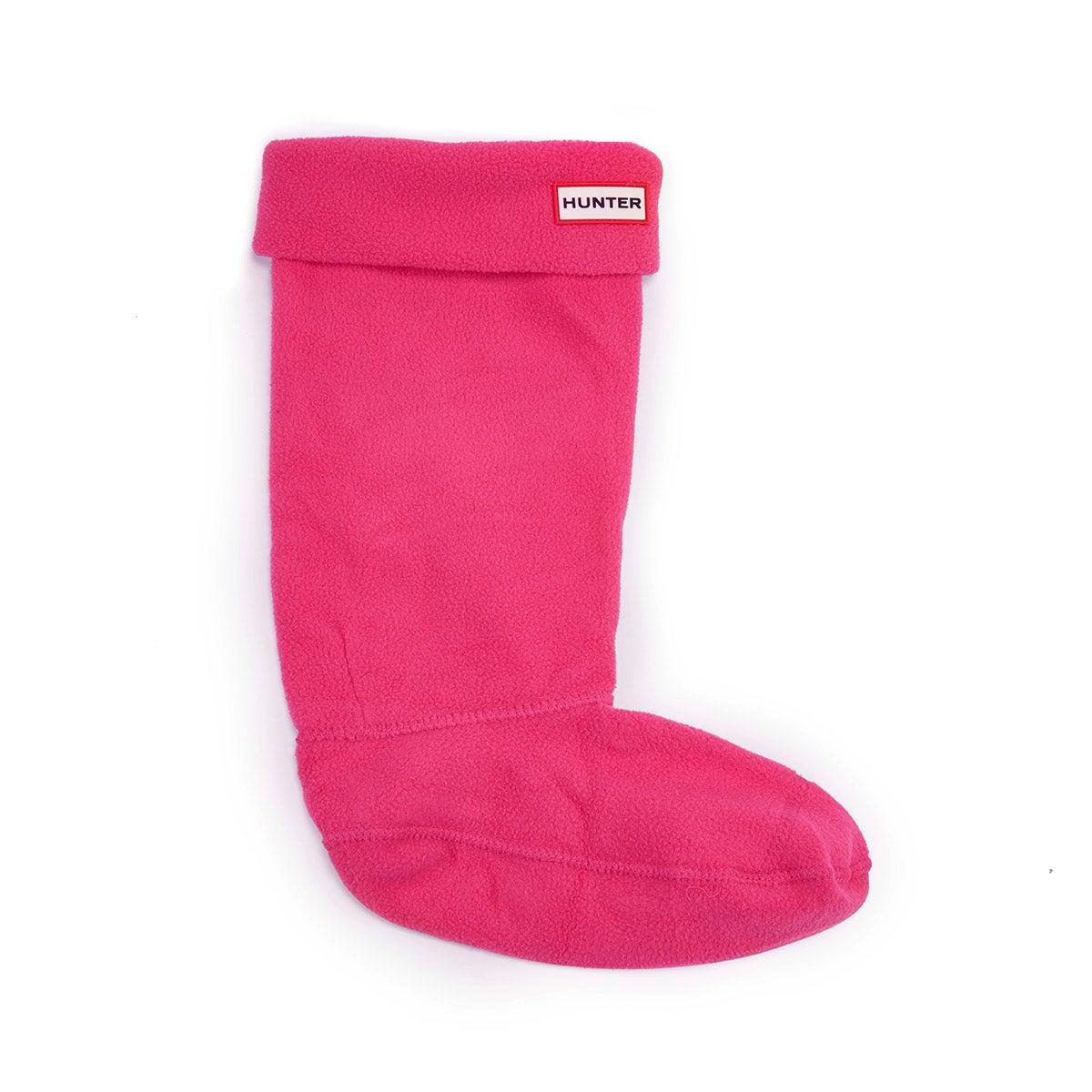 Kds fuchsia boot sock