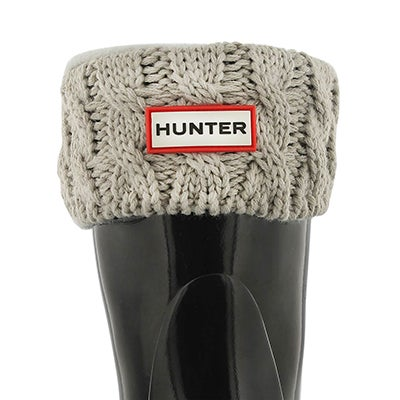Hunter Kids' 6 STITCH CABLE grey boot socks