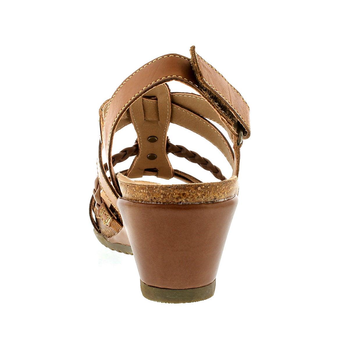 Lds Katie brown wedge sandal