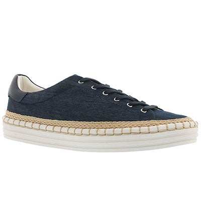 Lds Kavi denim casual lace up sneaker
