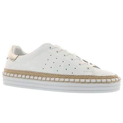 Lds Kavi white casual lace up sneaker
