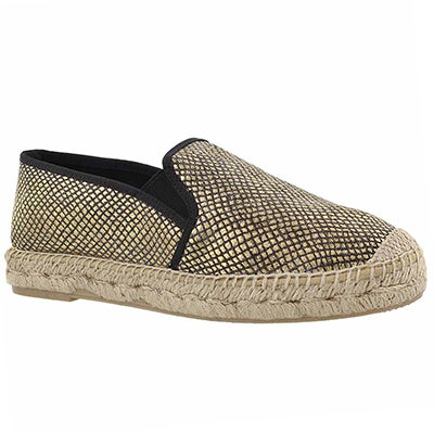 Lds Kaylee black slip on espadrille