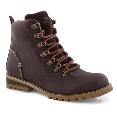 Lds Fernie eggplant wp laceup ankle boot