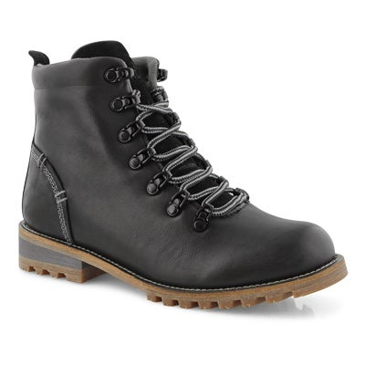 Lds Fernie black wtpf laceup ankle boot