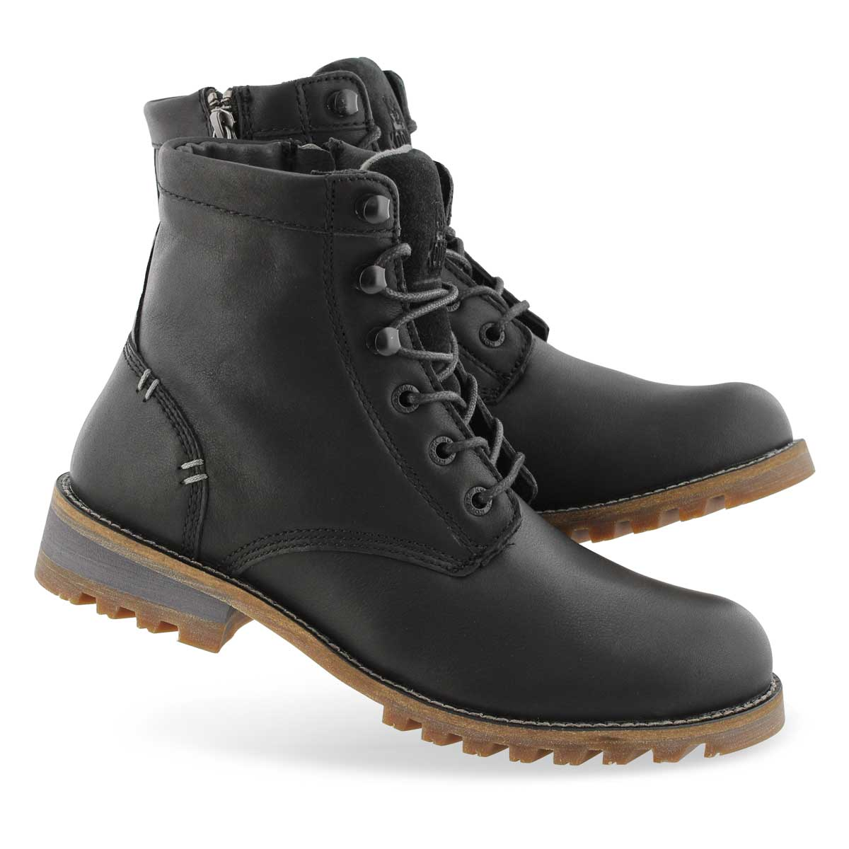 Lds Mahone black wtpf laceup ankle boot