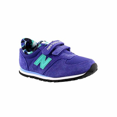 New Balance Infants' 420 purple/teal hook & loop sneakers