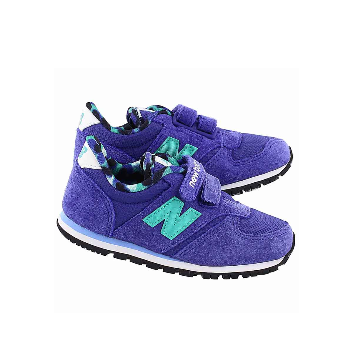Infs 420 purple/teal hook & loop sneaker