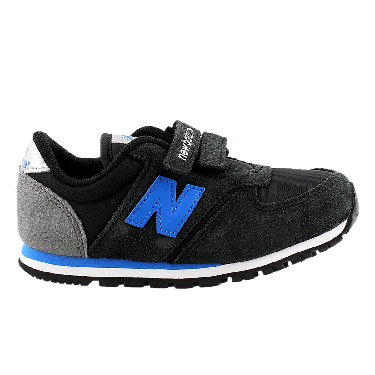 Infs 420 blk/blue hook & loop sneaker