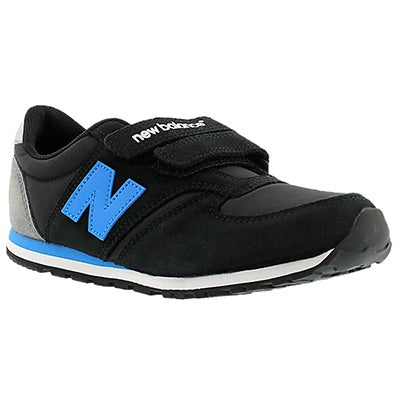 New Balance Boys' 420 black/blue hook & loop sneakers