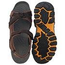 Mns Keanu brown 3 strap sport sandal