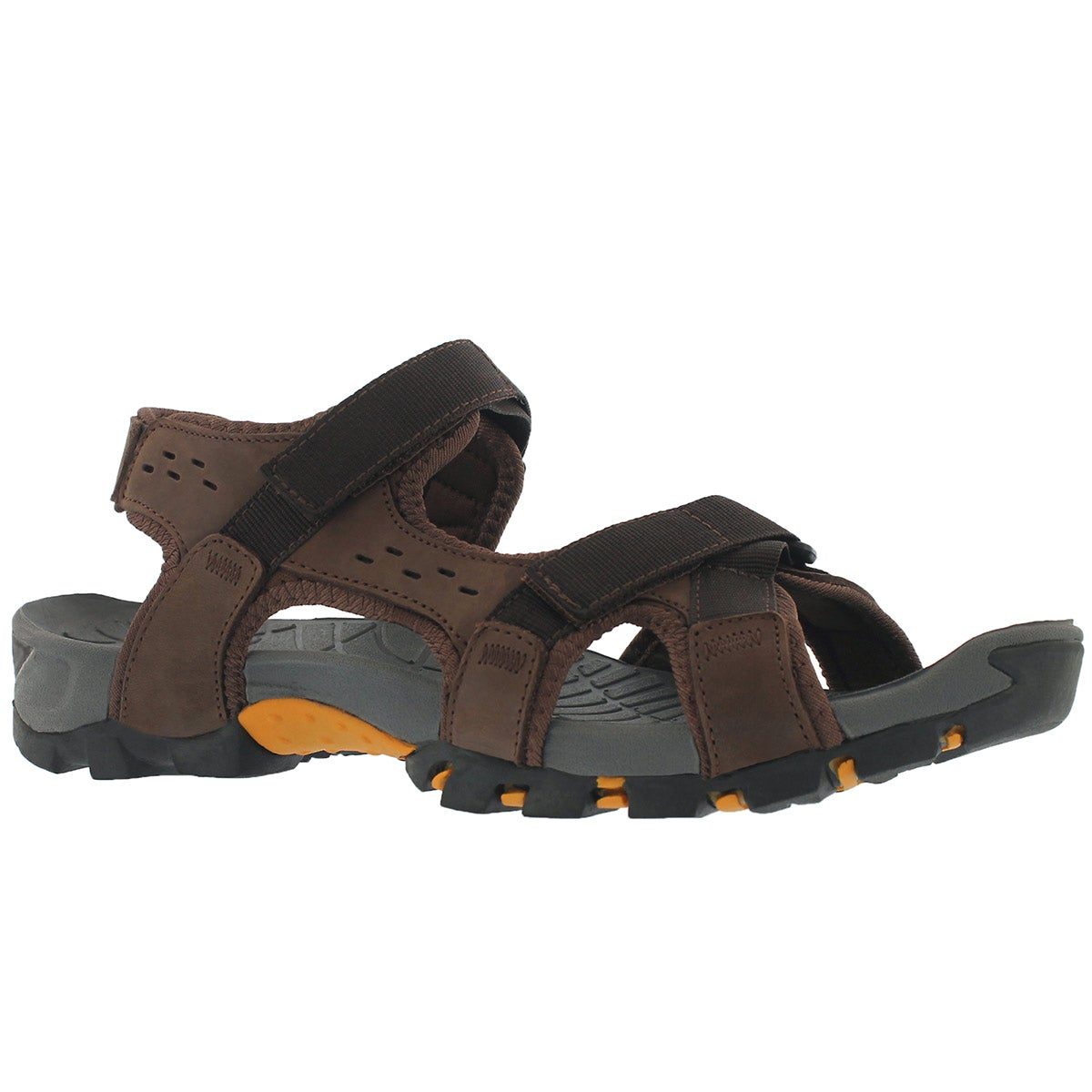 Men's KEANU brown 3 strap sport sandals