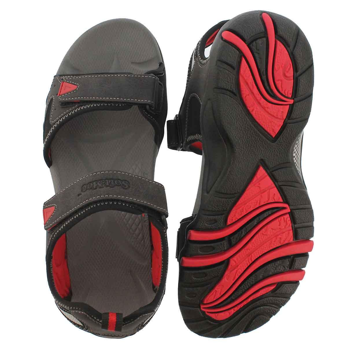 Mns Kedge black 3 strap sport sandal