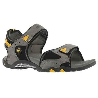 Mns Kedge grey 3 strap sport sandal