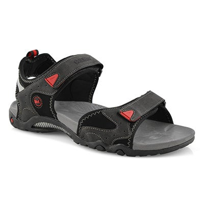 Mns Kedge 2 black 3 strap sport sandal