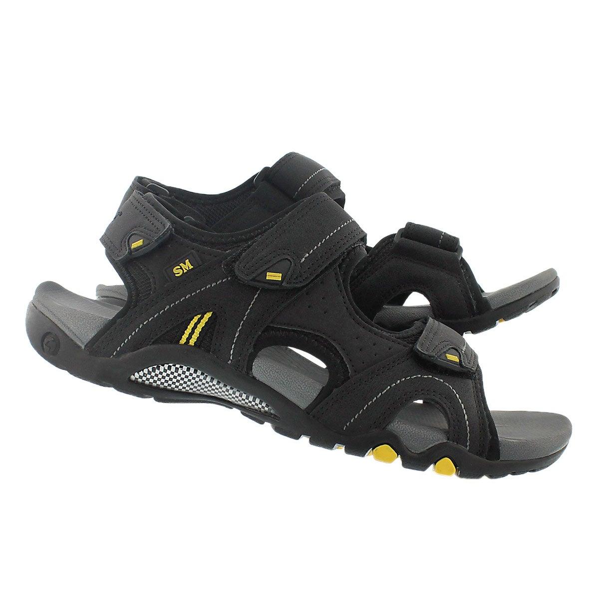 Mns Keegan black 3 strap sport sandal