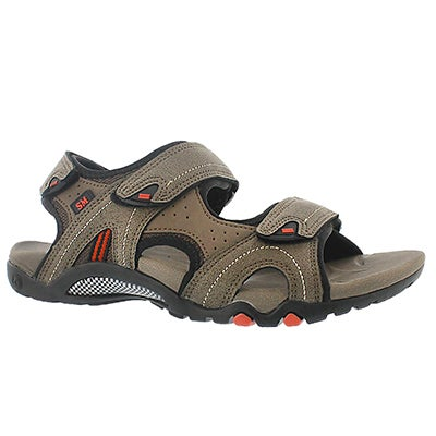 SoftMoc Men's KEEGAN taupe 3 strap sport sandals