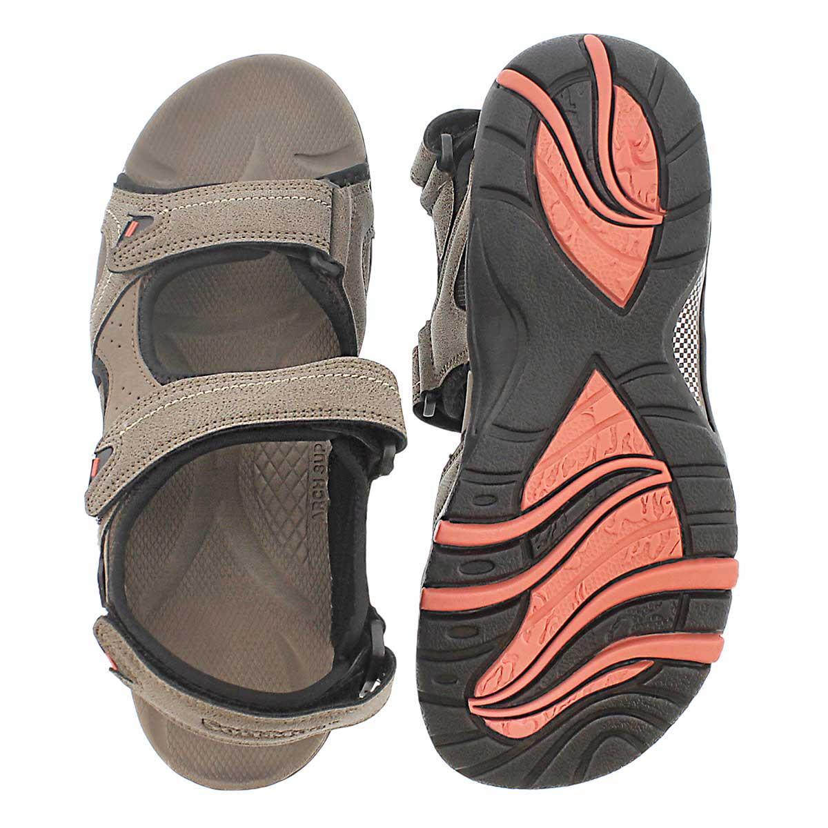 Sandale sport Keegan, taupe, hommes
