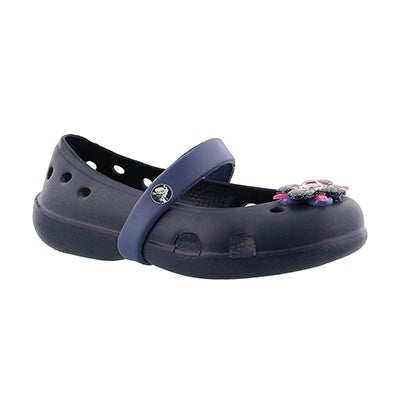 Crocs Girls' KEELEY SPRINGTIME navy Mary Jane flats