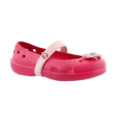 Crocs Girls' KEELEY SPRINGTIME raspberry Mary Jane flats