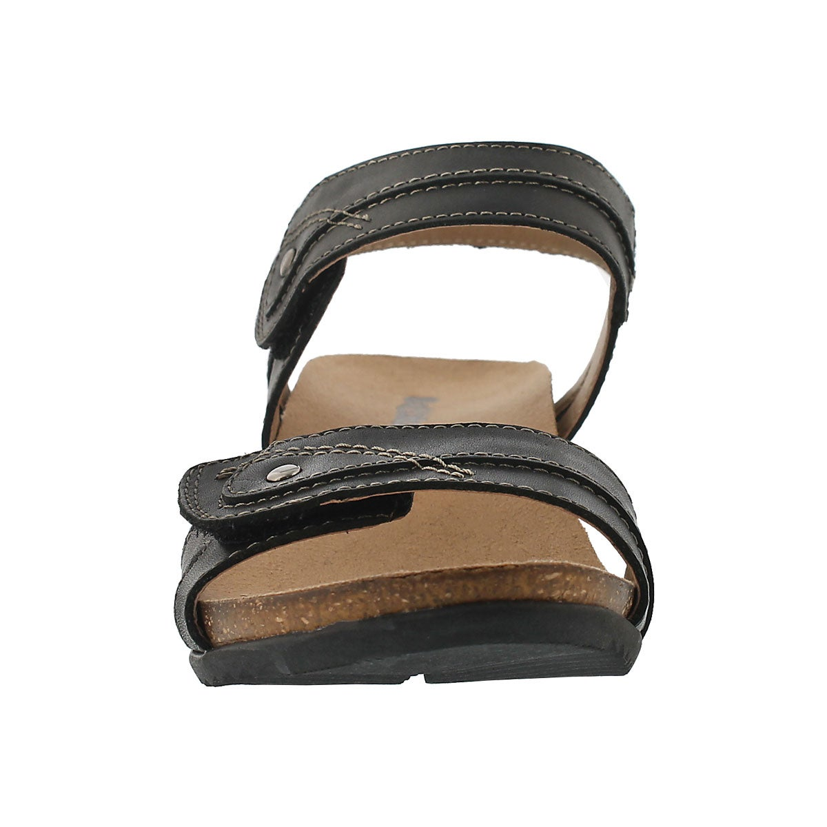 Lds Keira black wedge sandal