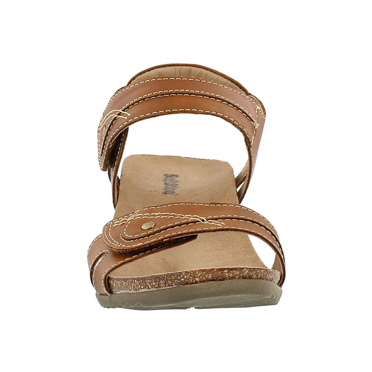 Lds Keira brown wedge sandal