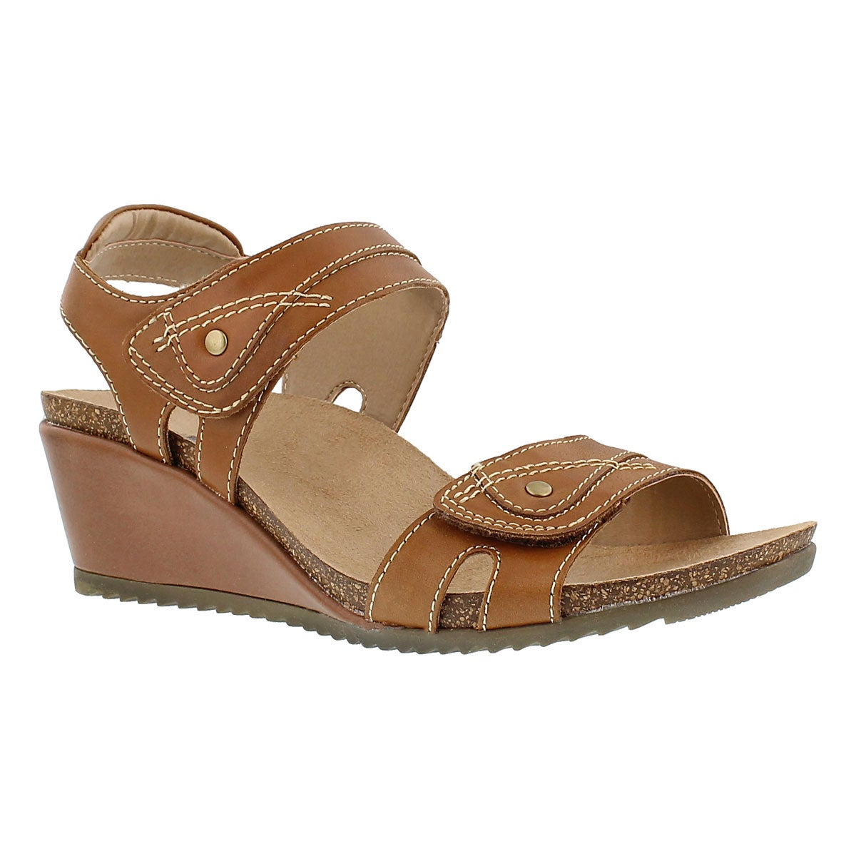 Women's KEIRA brown wedge sandals