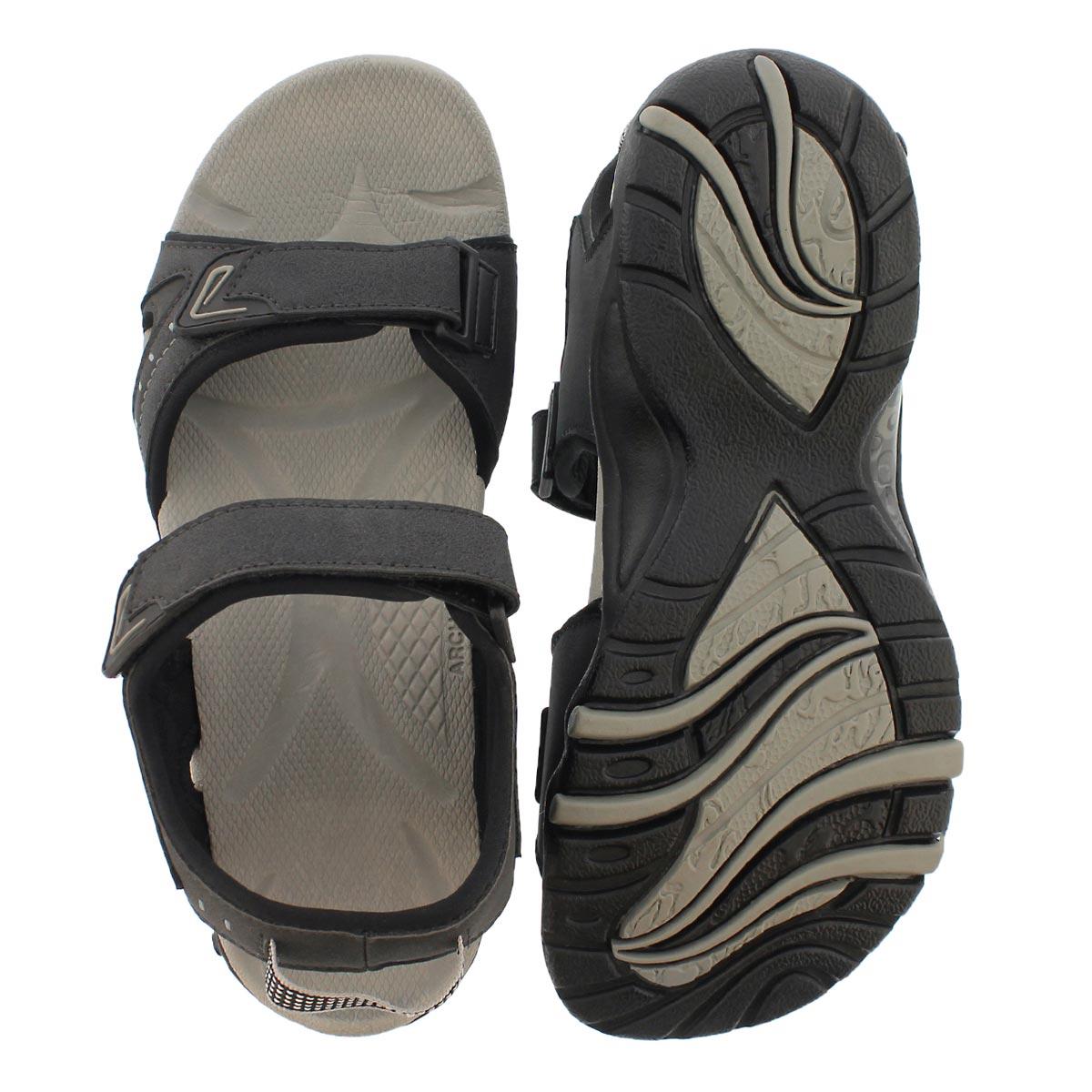 Mns Keith black 3 strap sport sandal
