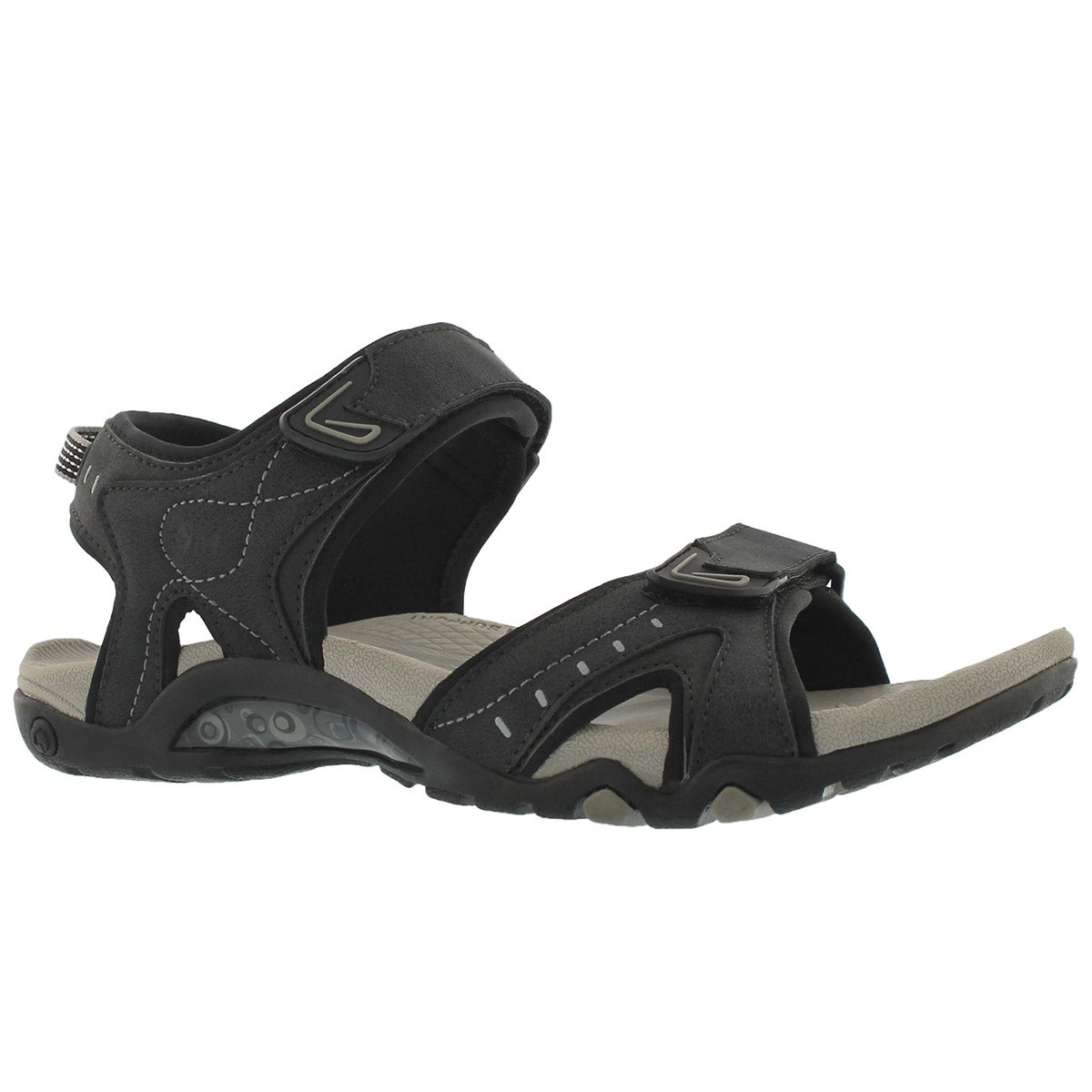 Men's KEITH black 3 strap sport sandals