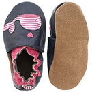 Inf Kelly The Whale navy soft slipper