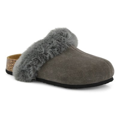 Lds Kendall grey open backed slipper