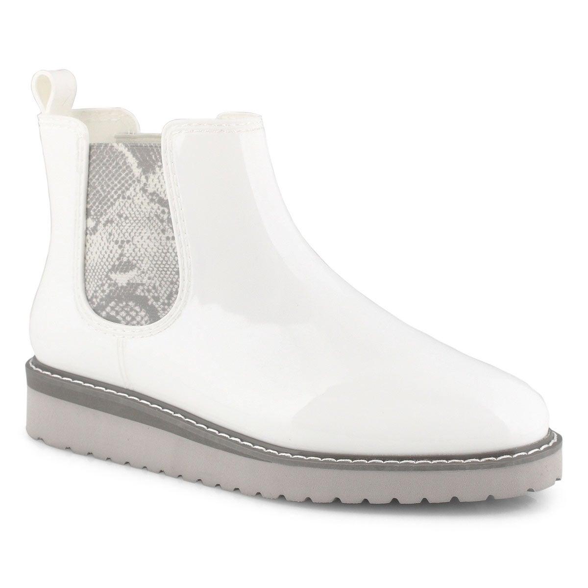 Lds Kensington wht snk wtpf chelsea boot