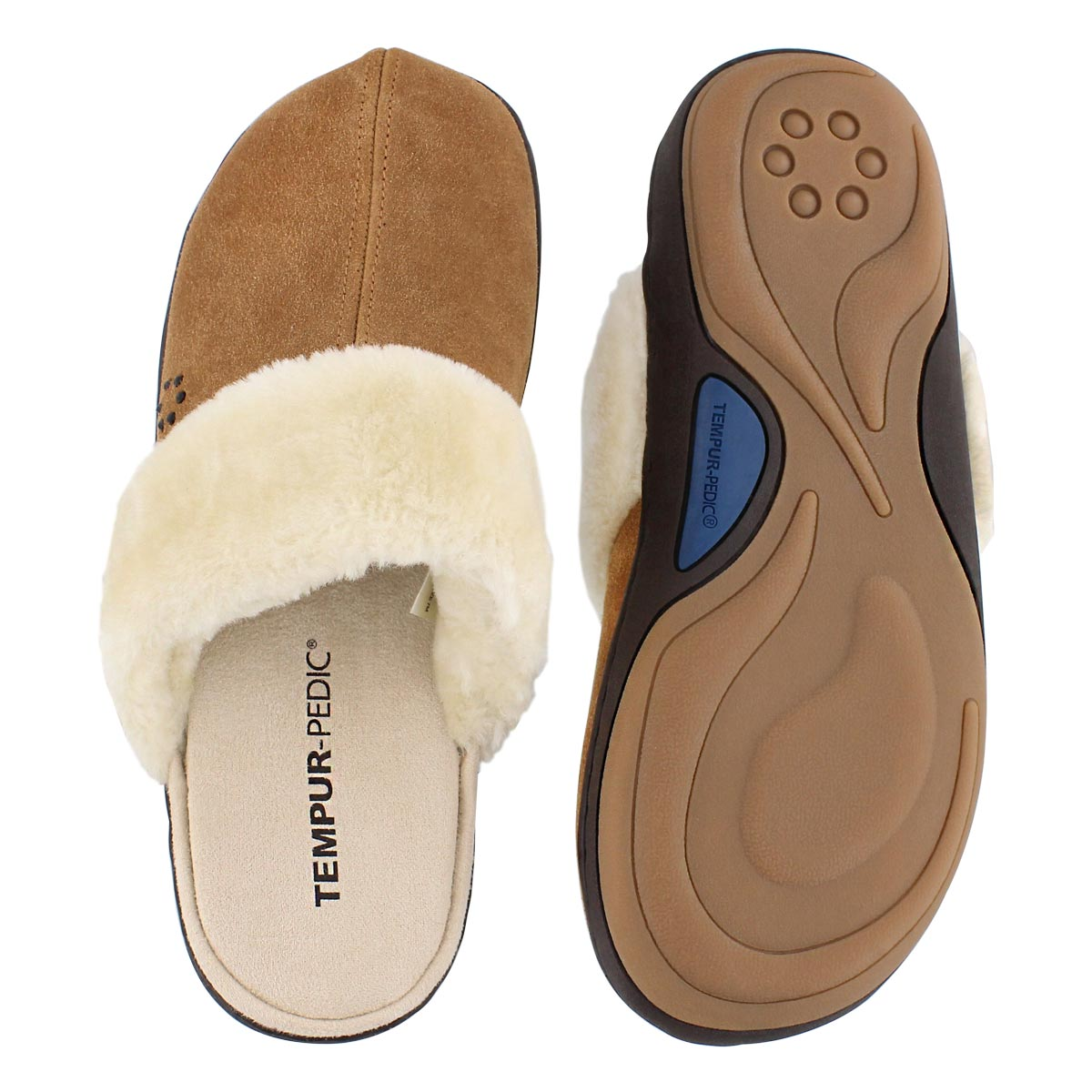 Lds Kensley hashbrown open back slipper