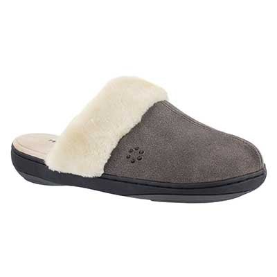 Tempur-Pedic Women's KENSLEY shale open back slippers
