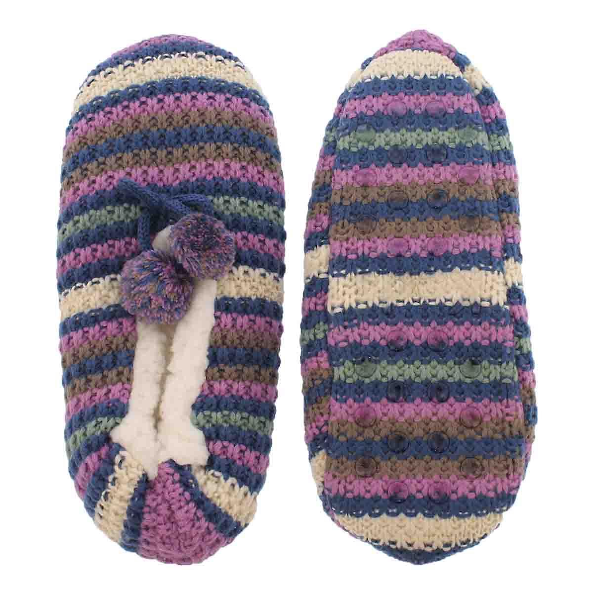 Women's SHERPA mulit stripe sock - 1 pack