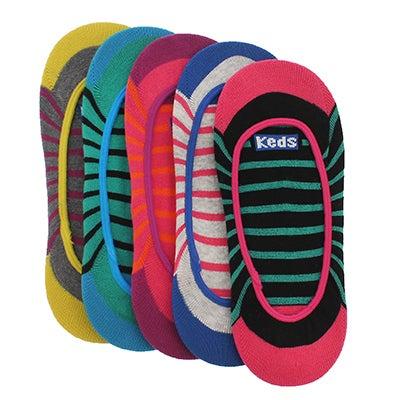 Keds Women's JETSETTER stripe multi liners - 5pk