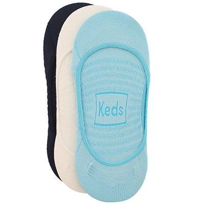 Keds Women's MICRO SKIMMER blue asst liner - 3 pk