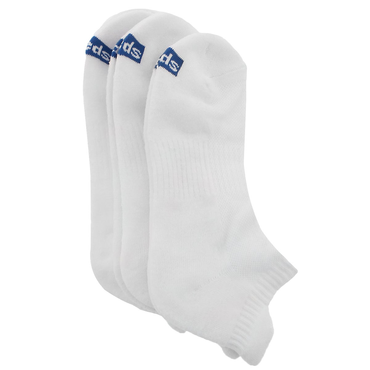 Lds Seasonless Core wht low sock - 3 pk