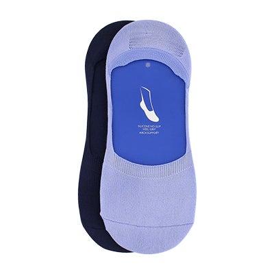 Lds Micro Sneaker iris asst liner - 2 pk