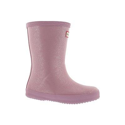 Infs First Glitter blossom rain boot