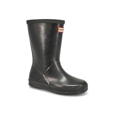 Hunter Bottes de pluie FIRST CLASSIC GLOSS, noir, bébés